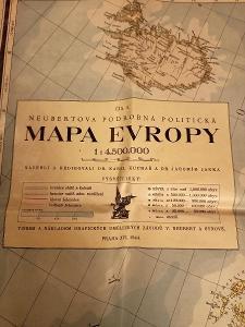 Mapa Evropy - Stará