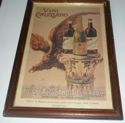 reklama Vini Calissano 51x35cm