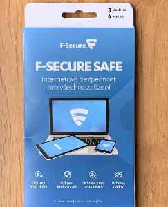 Antivirus F-Secure SAFE, 3 zařízení / 6 měsíců