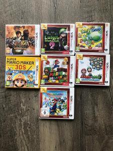 Nintendo 3ds lot 7 her, Mario, Luigi, Yoshi, Streetfigher. AAA tituly.
