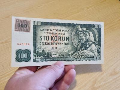 100 Kčs 1961, STAV TOP