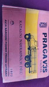 Praha V3S - Katalog náhradních dílů
