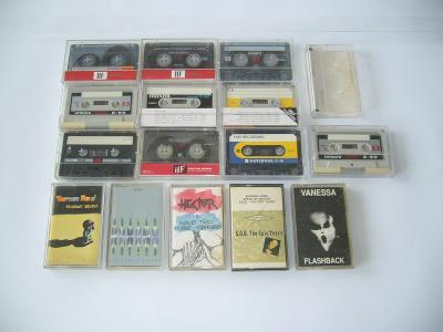 Staré audiokazety, originálky + další na nahrání